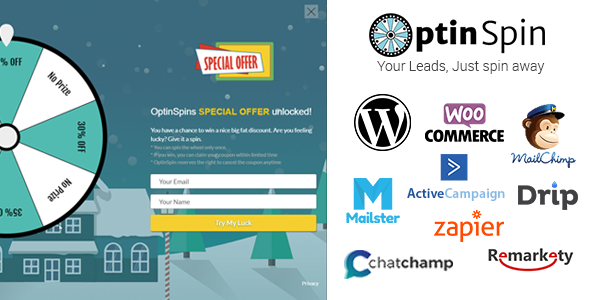 OptinSpin 2.16 - Fortune Wheel Integrated With WooCommerce Coupons