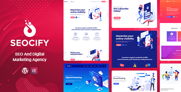 Seocify 2.0.0 - SEO And Digital Marketing Agency WordPress Theme