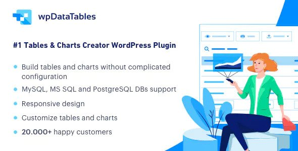 wpDataTables 3.1 + Addons - Tables and Charts Manager for WordPress