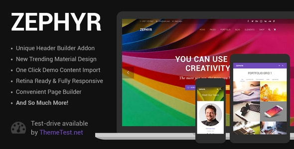 Zephyr 7.2 (Nulled) - Material Design Theme