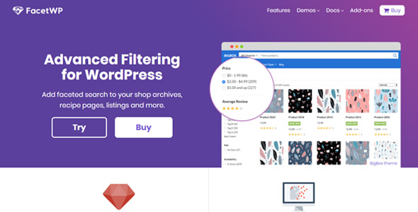 FacetWP 3.8.6 + Full Addons - Filtering and Faceted Search WordPress Plugin