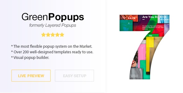 Green Popups 7.27 (formerly Layered Popups) - Popup Plugin for WordPress