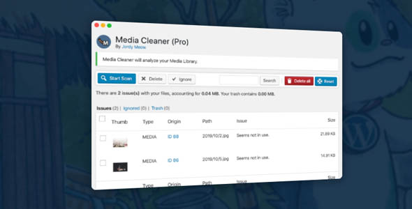 Media Cleaner Pro 5.6.3 Nulled - Cleans Media Library and Uploads Directory