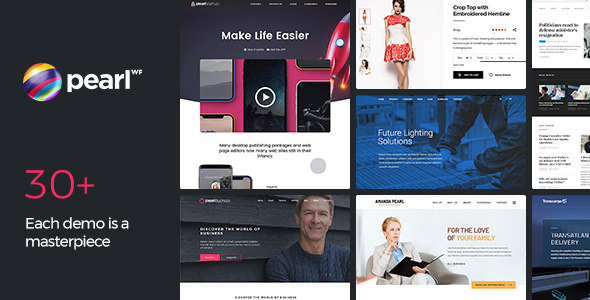 Pearl 3.3.0 Nulled - Corporate Business WordPress Theme