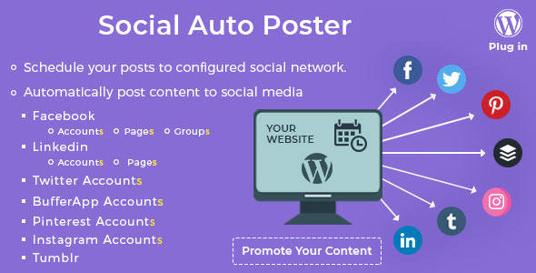 Social Auto Poster 3.6.1 - WordPress Plugin