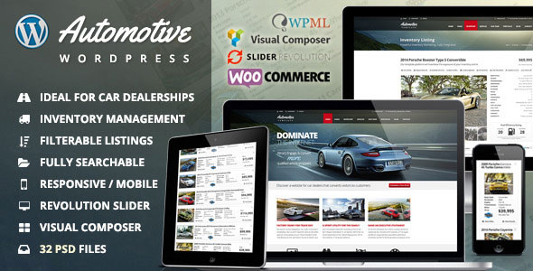 Automotive 11.9.6 Nulled - Car Dealership Business WordPress Theme