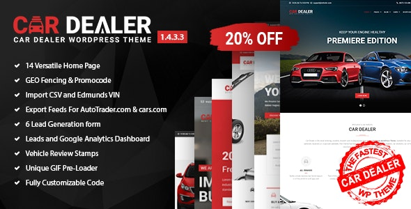 Car Dealer 1.5.6.3 Nulled - Automotive Responsive WordPress Theme