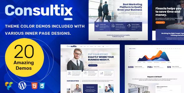 Consultix 3.0.1 Nulled - Business Consulting WordPress Theme