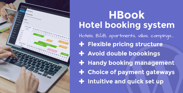 HBook 1.9.3 (Nulled) - Hotel booking system WordPress Plugin