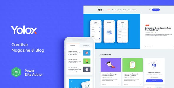 Yolox 1.0.5 Nulled - Modern WordPress Blog Theme for Business & Startup