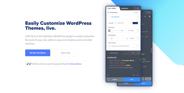 CSS Hero 4.20 Nulled - Visual CSS Editor Customize WordPress Themes Live