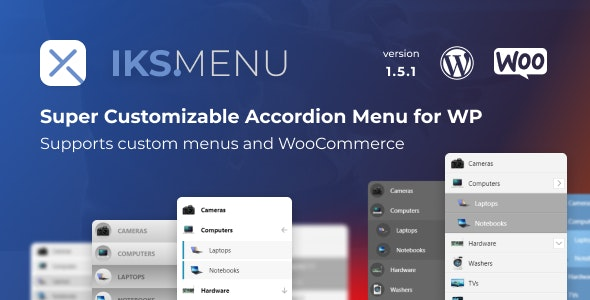 Iks Menu 1.7.6 (Nulled) - Super Customizable Accordion Menu for WordPress