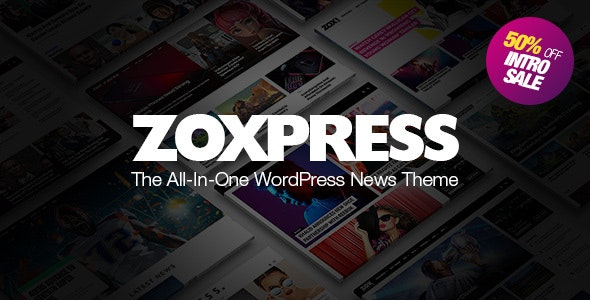 ZoxPress 2.05.0 - All-In-One WordPress News Theme