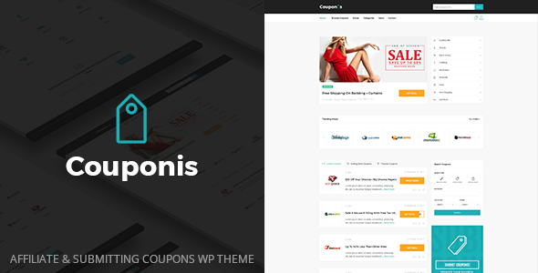 Couponis 3.1.2 - Affiliate & Submitting Coupons WordPress Theme