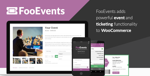 FooEvents for WooCommerce 1.12.36 + Addons