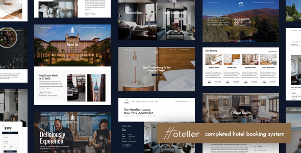 Hoteller 5.1 Nulled - Hotel Booking WordPress Theme
