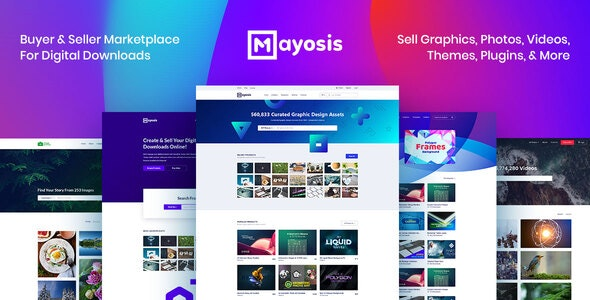Mayosis 2.8.4 - Digital Marketplace WordPress Theme
