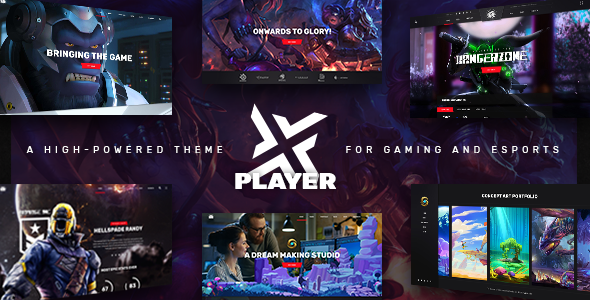 PlayerX 1.8 - A High-powered Theme for Gaming and eSports
