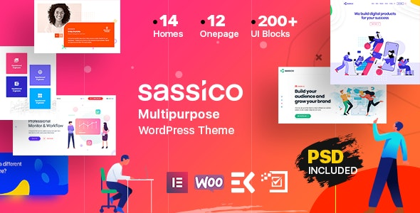 Sassico 2.5 - Multipurpose Saas Startup Agency WordPress Theme