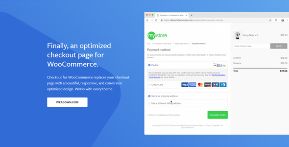 CheckoutWC 4.0.6 Nulled - Checkout for Woocommerce