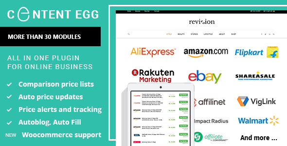 Content Egg 7.3.0 Nulled - All In One Plugin For Affiliate