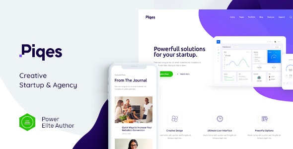 Piqes 1.0.3 Nulled - Creative Startup & Agency WordPress Theme