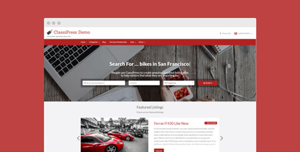 ClassiPress 4.1.6 - The Bestselling Classifieds Theme For WordPress