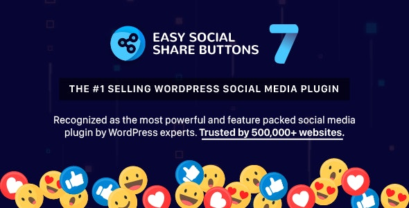 Easy Social Share Buttons for WordPress 7.7 Nulled