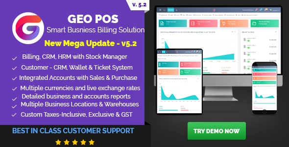 Geo POS 5.2 Nulled - Point of Sale, Billing and Stock Manager Application