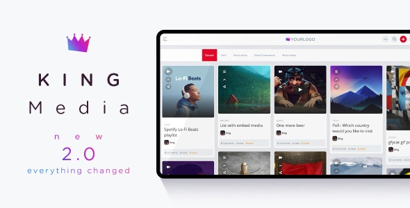 King Media 2.0 Nulled - Viral Magazine News Video Scripts
