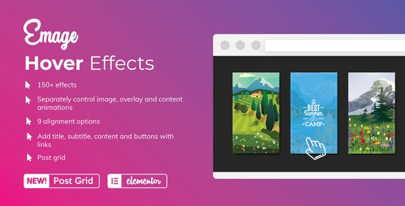 Emage 4.1.9 (Nulled) - Image Hover Effects for Elementor