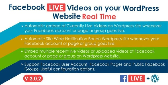 Facebook Live Video Auto Embed for WordPress 3.0.1 (Nulled)