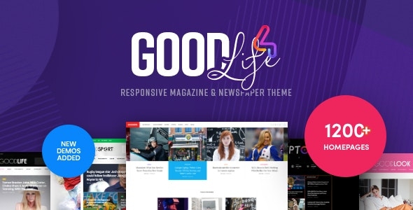 GoodLife 4.2.5 Nulled - Magazine & Newspaper WordPress Theme