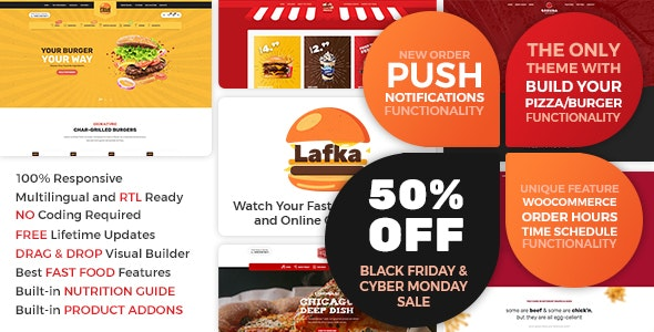 Lafka 2.5.2 - WooCommerce Theme for Burger & Pizza Delivery