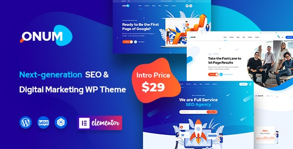 Onum 1.2.0.11 - SEO & Marketing Elementor WordPress Theme