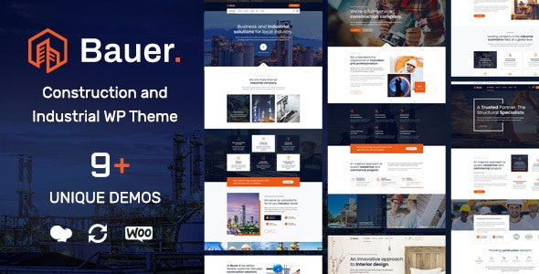 Bauer 1.8 - Construction and Industrial WordPress Theme