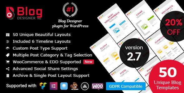 Blog Designer PRO for WordPress 2.7.5 Nulled