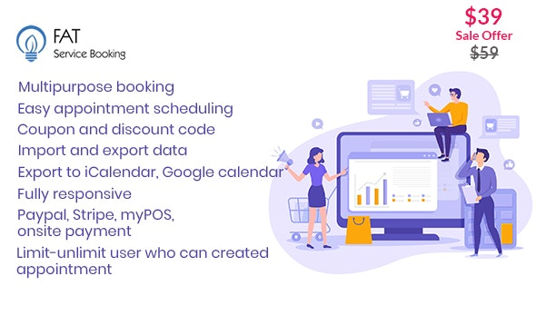 Fat Services Booking 3.8 - Automated Booking and Online Scheduling
