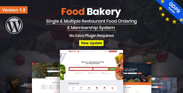 FoodBakery 2.1 Nulled - Food Delivery Restaurant Directory WordPress Theme