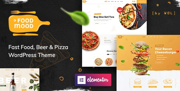 Foodmood 1.1.3 Nulled - Cafe & Delivery WordPress Theme