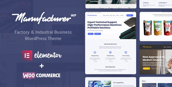 Manufacturer 1.3.3 Nulled - Factory and Industrial WordPress Theme