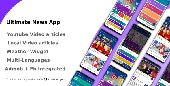 Ultimate News App 1.0 - Video,Youtube,Weather,Survey