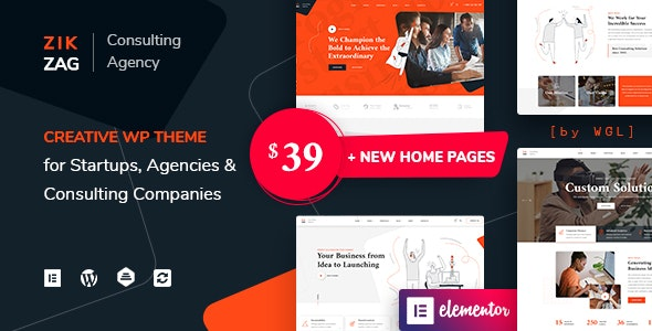 ZikZag 1.1.1 Nulled - Consulting & Agency WordPress Theme