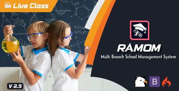 Ramom 4.5 Nulled - Multi Branch School Management System