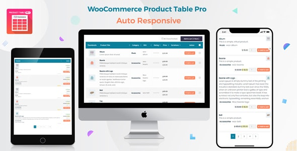 Woo Product Table Pro 7.0.7 - WooCommerce Product Table