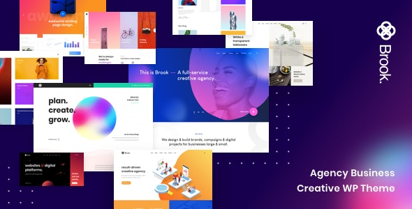 Brook 2.2.0 Nulled - Agency Business Creative WordPress Theme