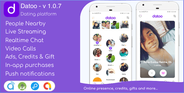 Datoo 1.0.7 - Dating platform with Live Steaming and Video calls