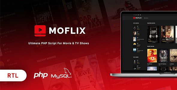MoFlix 1.0.5 - Ultimate PHP Script For Movie & TV Shows