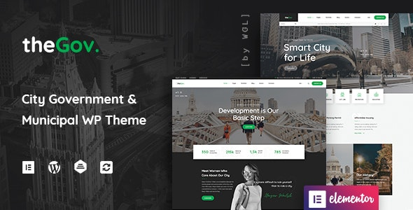 TheGov 1.1.4 Nulled - Municipal and Government WordPress Theme