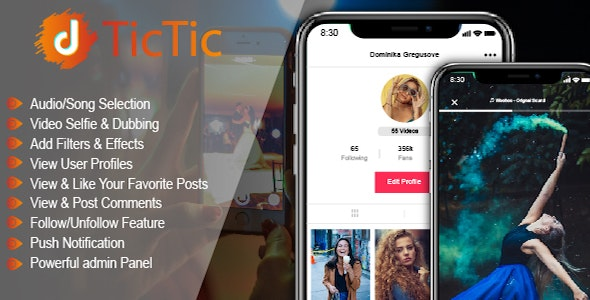 TicTic 2.9.6 - Android Media App For Creating And Sharing Short Videos